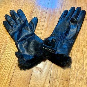 Ralph Lauren Leather Gloves-NWT
